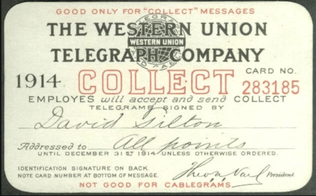 De eerste creditcard van Western Union.  Bankpas voorbeelden