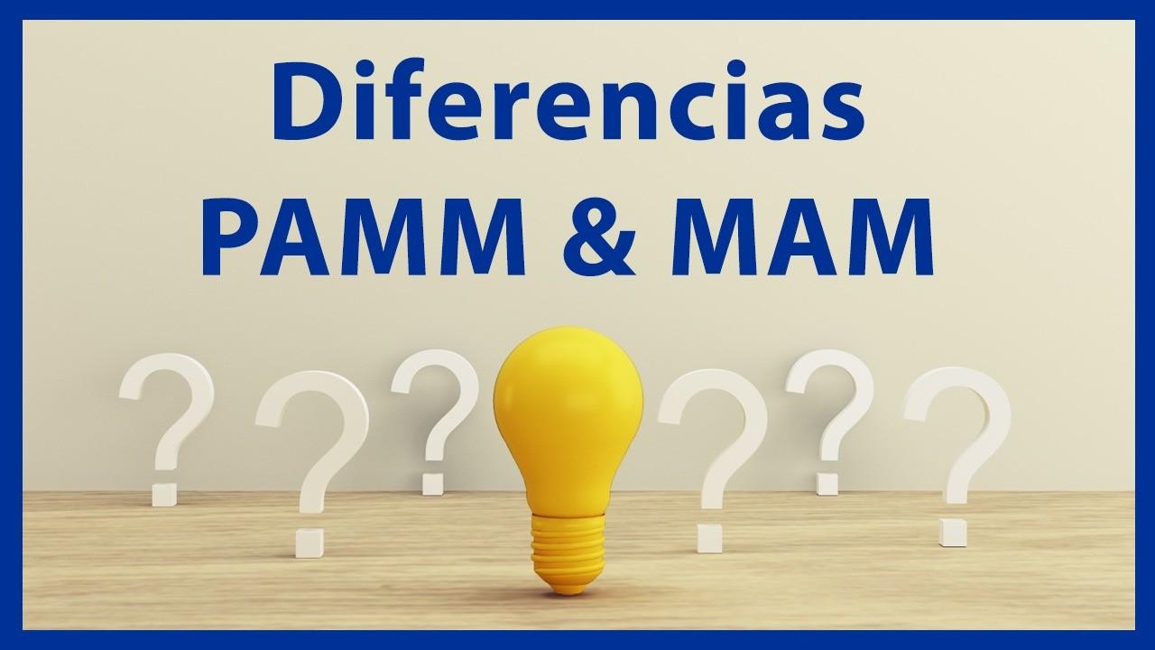 Diferencia entre cuenta mam y cuenta Pamm. Peligros de la cuenta mam. Pamm. Mam.